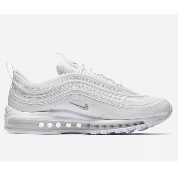brand new a69a7 e1fd7 Nike Air Max 97 Triple White Mens Sneakers Running NWT